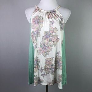 Anthropologie Sorin Deletta Floral Colorblock Tank